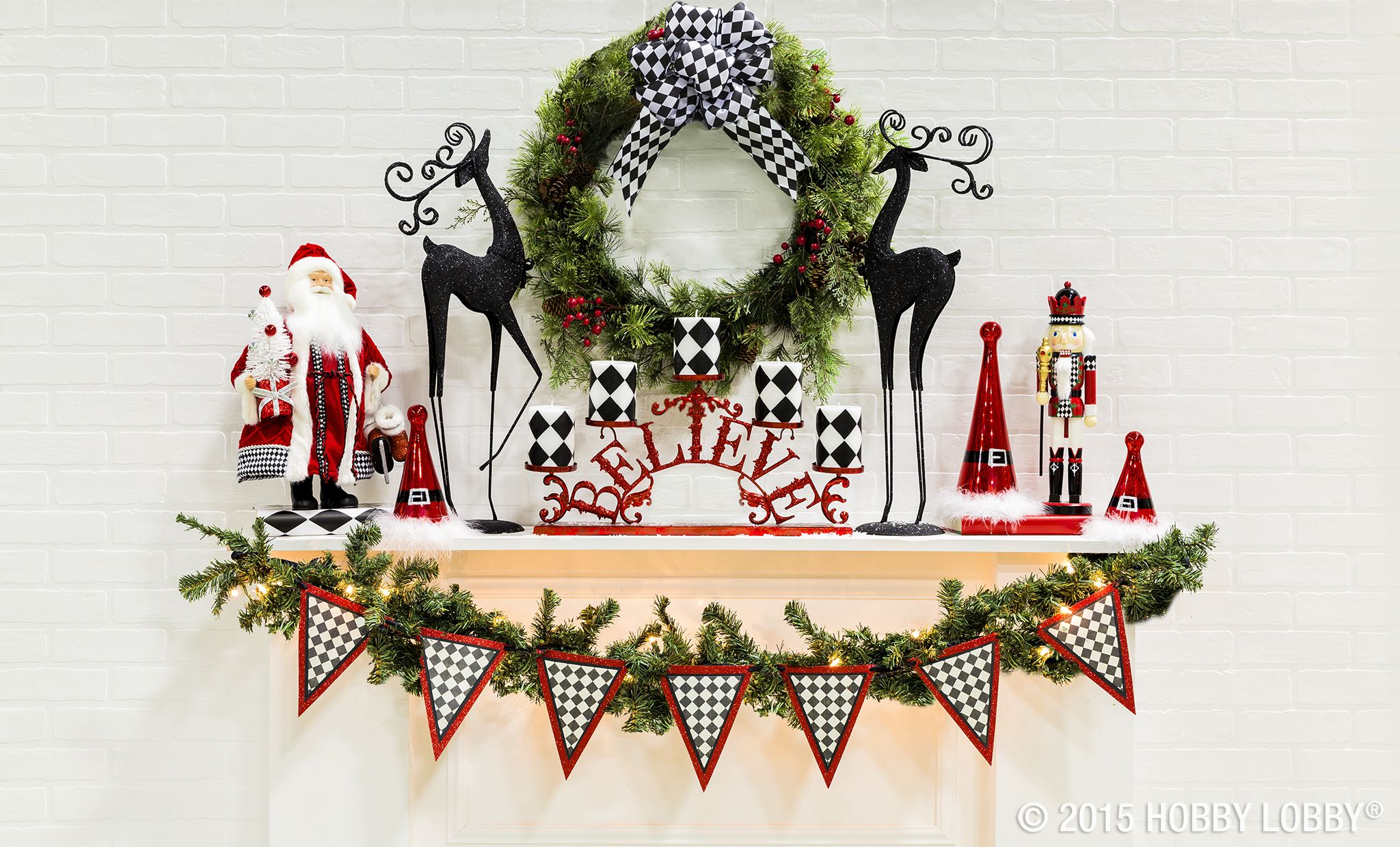 North Pole meets New York in this harlequin Christmas collection! From its start as a women's fashion design, this bold pattern has become a favorite of DIYers and decorators alike.