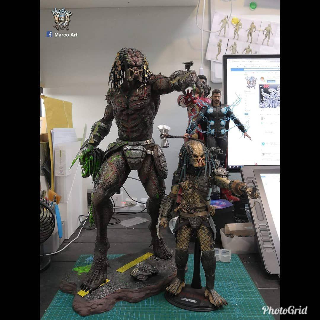 Alien vs Predator Mini Figures-Aliens Movie Figure Horror Upgrade