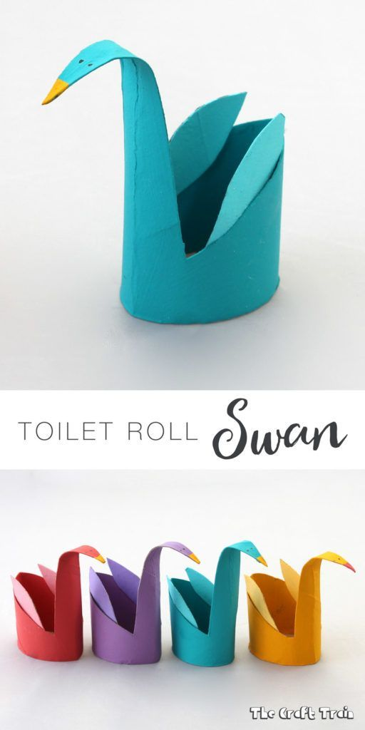 Simple Craft Ideas For Kids With Paper Part - 25: Toilet Roll Swans U2013 A Simple Craft Idea For Kids