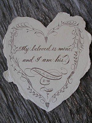 calligraphy found at Janefarr.blogspot.com  Place To Flourish: Calligraphy Flourish Friday - Song of Solomon