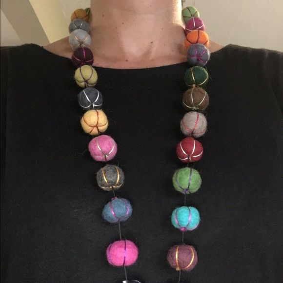 """Tibetan handcrafted necklace Colorful handcrafted necklace.  16"""" long Jewelry Necklaces"""