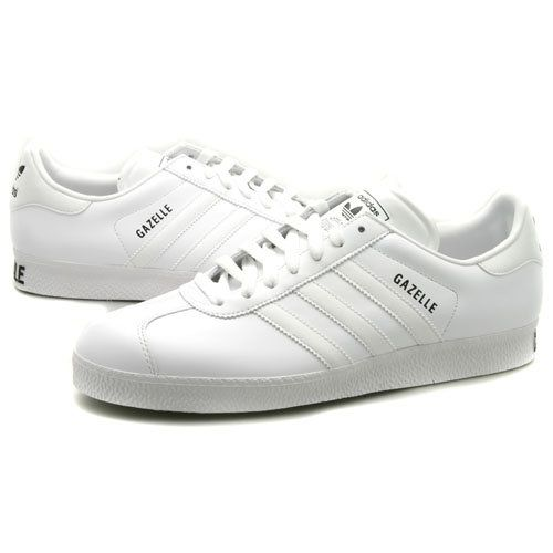 Mens Adidas Gazelle Ii White Leather Trainers