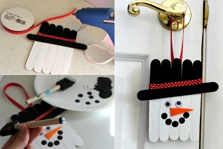 Basteln für Weihnachten mit Eisstielen – 20 Deko Ideen und ...