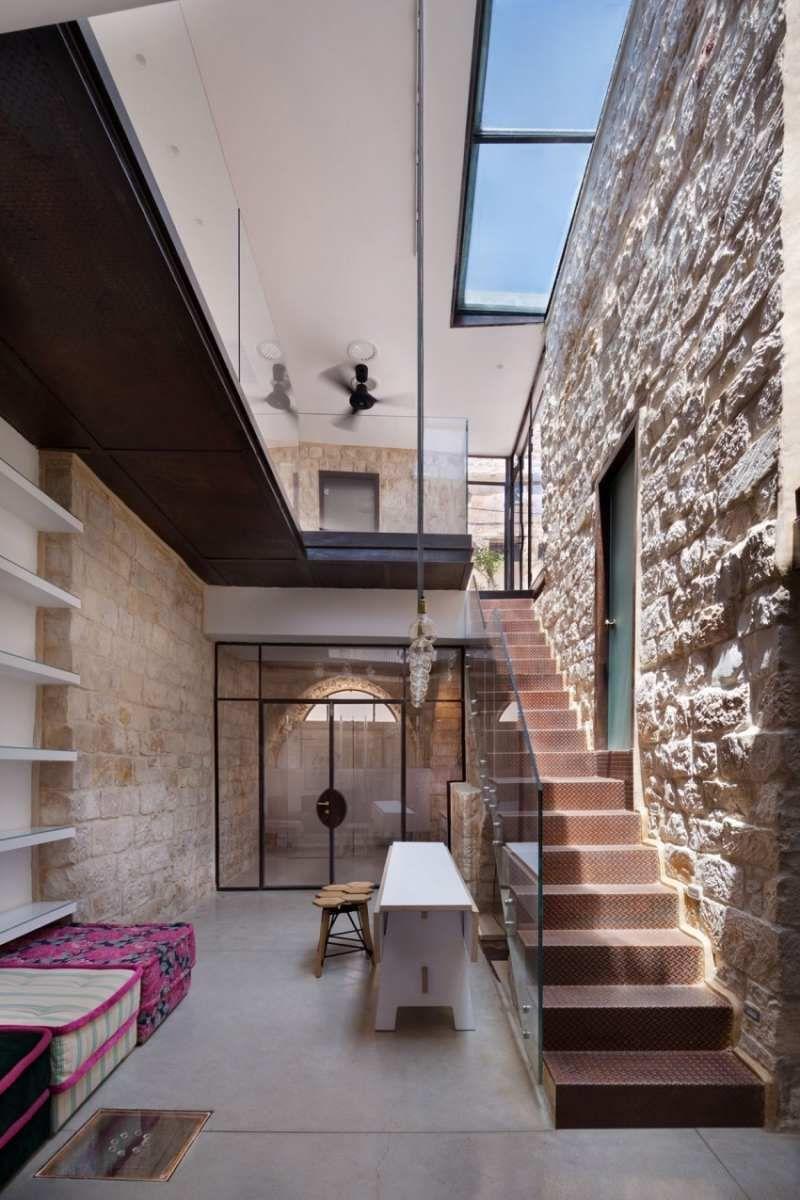 Innen Steinwand: 22 elegante Ideen zur Gestaltung | Modern stairs ...