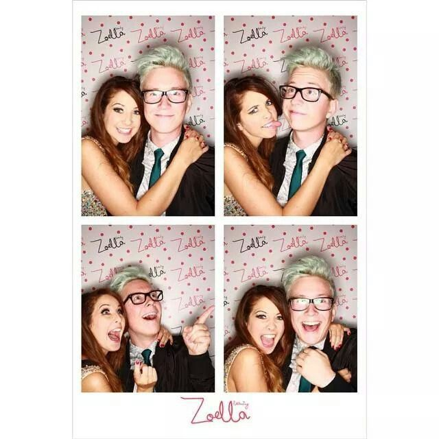 Zoe Sugg and Tyler Oakley at Zoella beauty launch party! Love them!