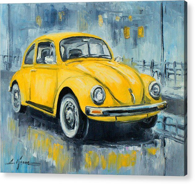 VW Beetle Acrylic Print by Luke Karcz