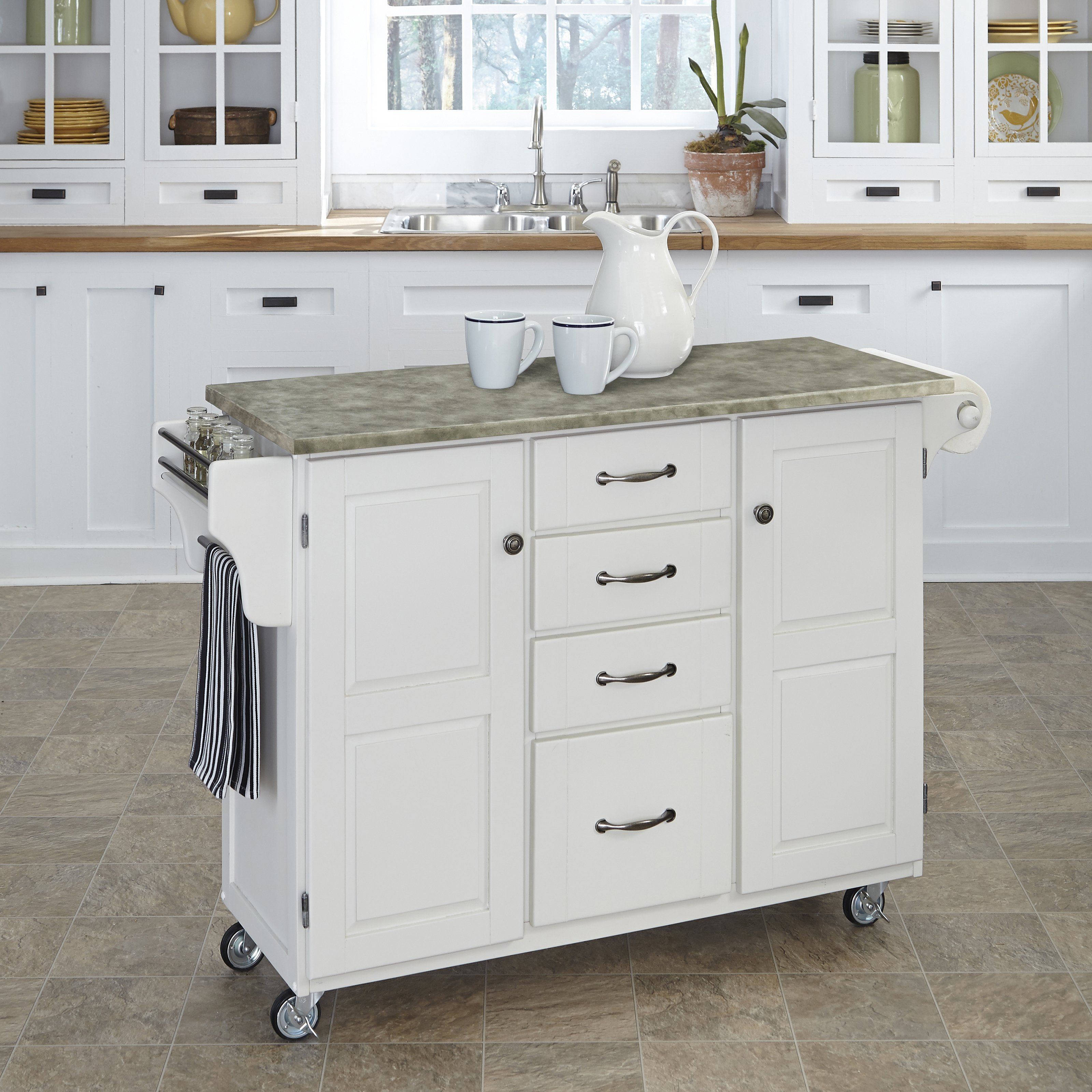 Kitchen island name - Home Styles Create A Cart Kitchen Island With Utility Drawers Choose From Several