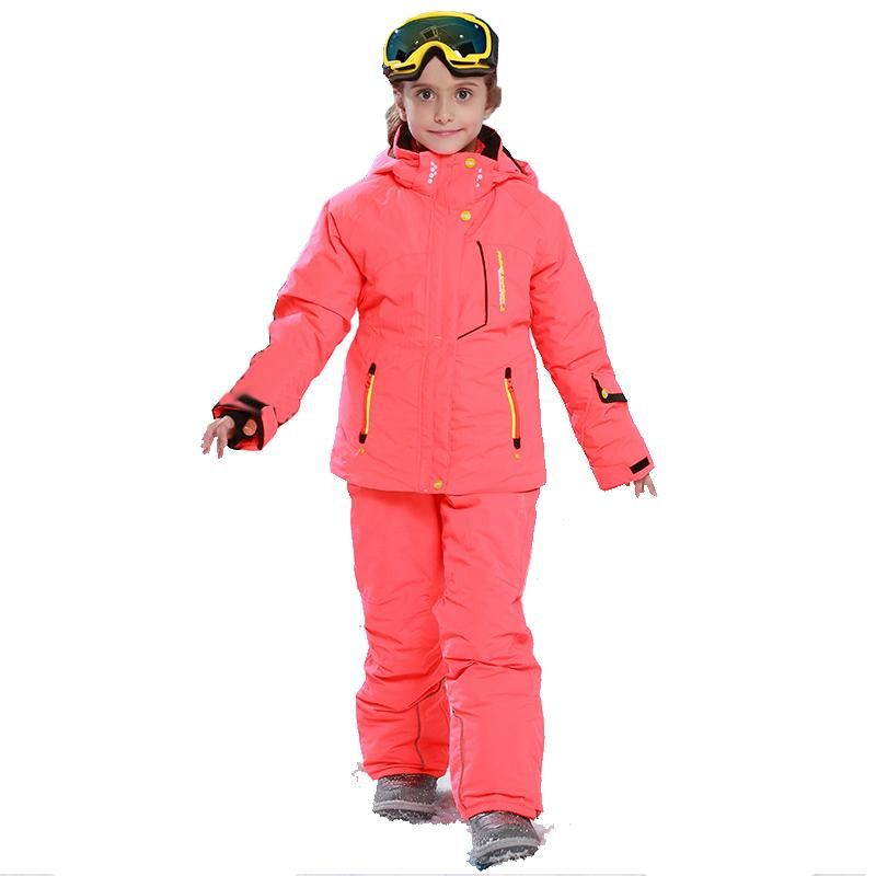 35b6fb258 Detector Girl Winter Windproof Ski Jackets + Pants Outdoor Children  Clothing Set Kids Snow Sets Warm Skiing Suit For Boys Girls