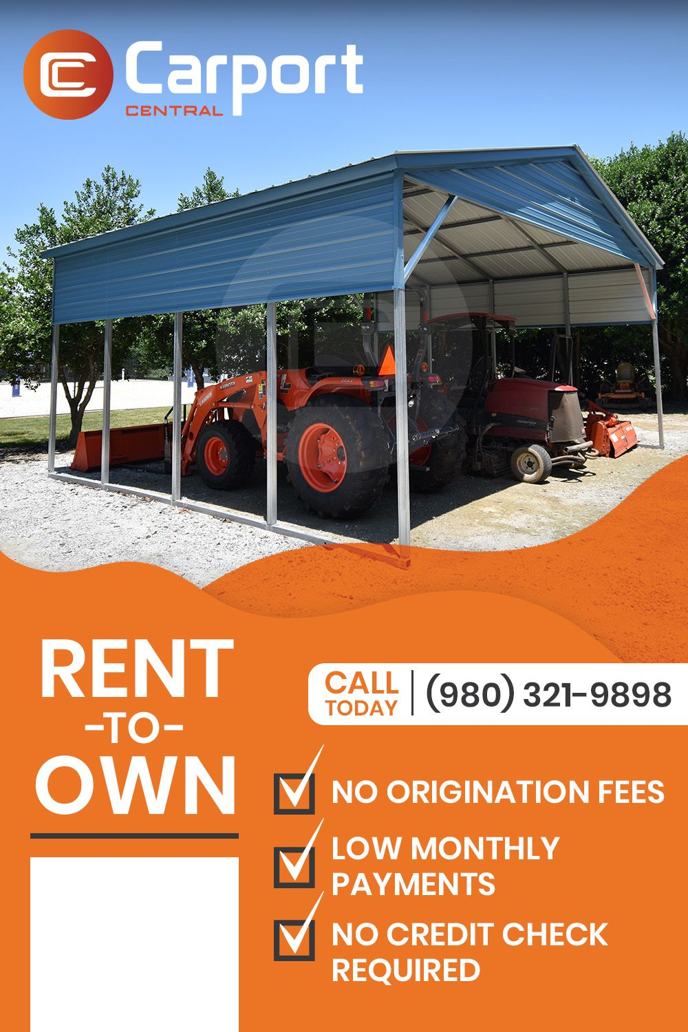 Rent To Own With Carport Central Carport Rv Cover Rent
