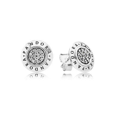Pandora Signature Stud Earrings Clear Cz 290559cz