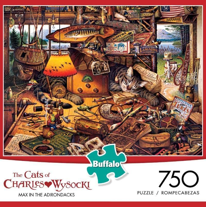 """750 Pieces """"Max in The Adirondacks """" Art by Charles"""