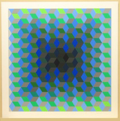 MoMA | The Collection | Victor Vasarely. Hommage to the Hexagon (Hommage À La…