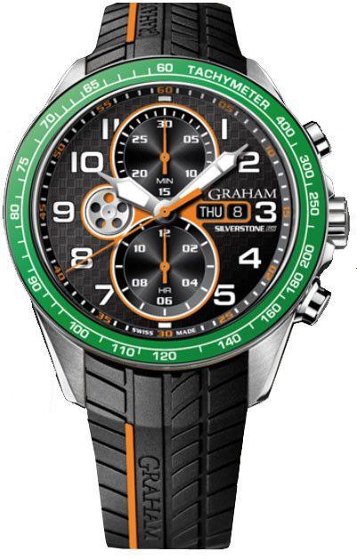 b17f27c5e60 Graham Watch Silverstone RS Racing  basel-15  bezel-fixed   bracelet-strap-rubber…