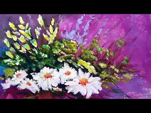 Como Pintar Flores Con Acrilico Paso A Paso Como Pintar Con Acrilico Youtube Como Pintar Flores Flores Pintadas Pintar Con Acrilico