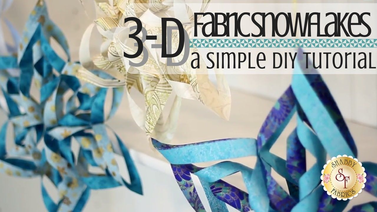 Easy 3D Fabric Snowflakes   Shabby Fabrics: These 3-Dimensional ...
