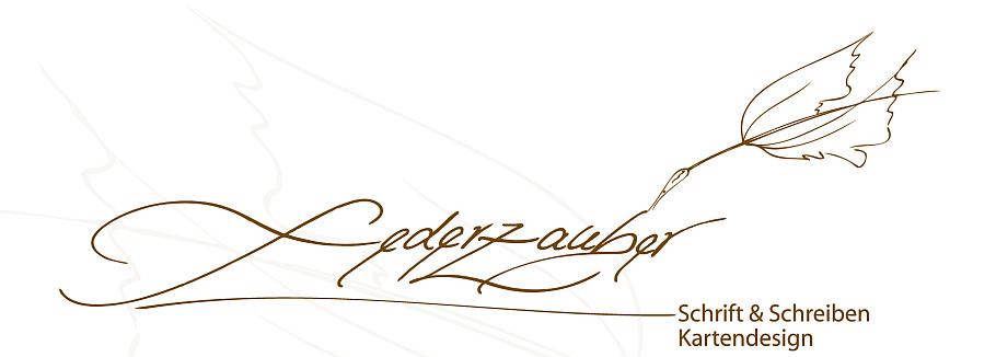 Galerie - federzauber.de - Schrift & Schreiben, Kartendesign