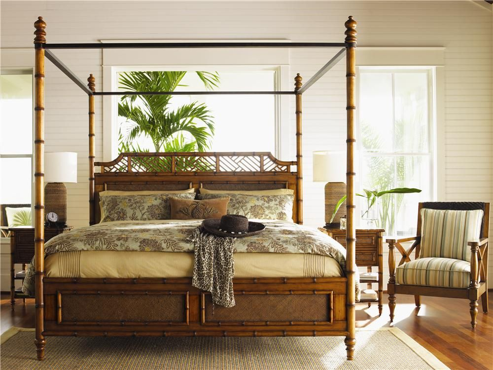 Island Estate King Size West Indies Canopy Bed By Tommy Bahama Home