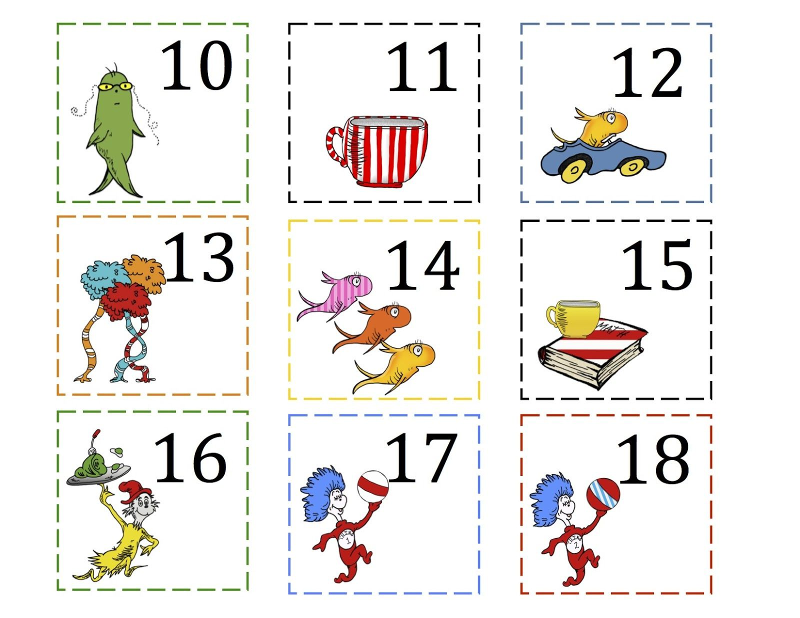 Preschool Printables That Cat Number Cards 1 100
