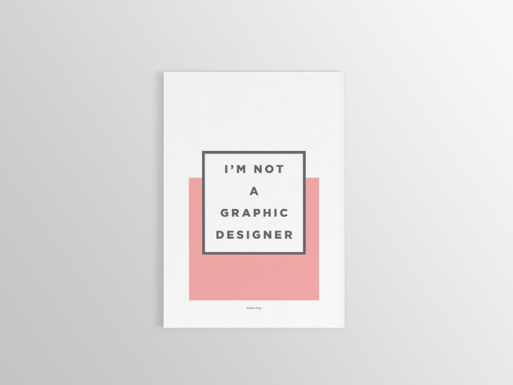 'I'm Not A Graphic Designer': A Beautifully Minimal Graphic Design Portfolio #graphicdesign