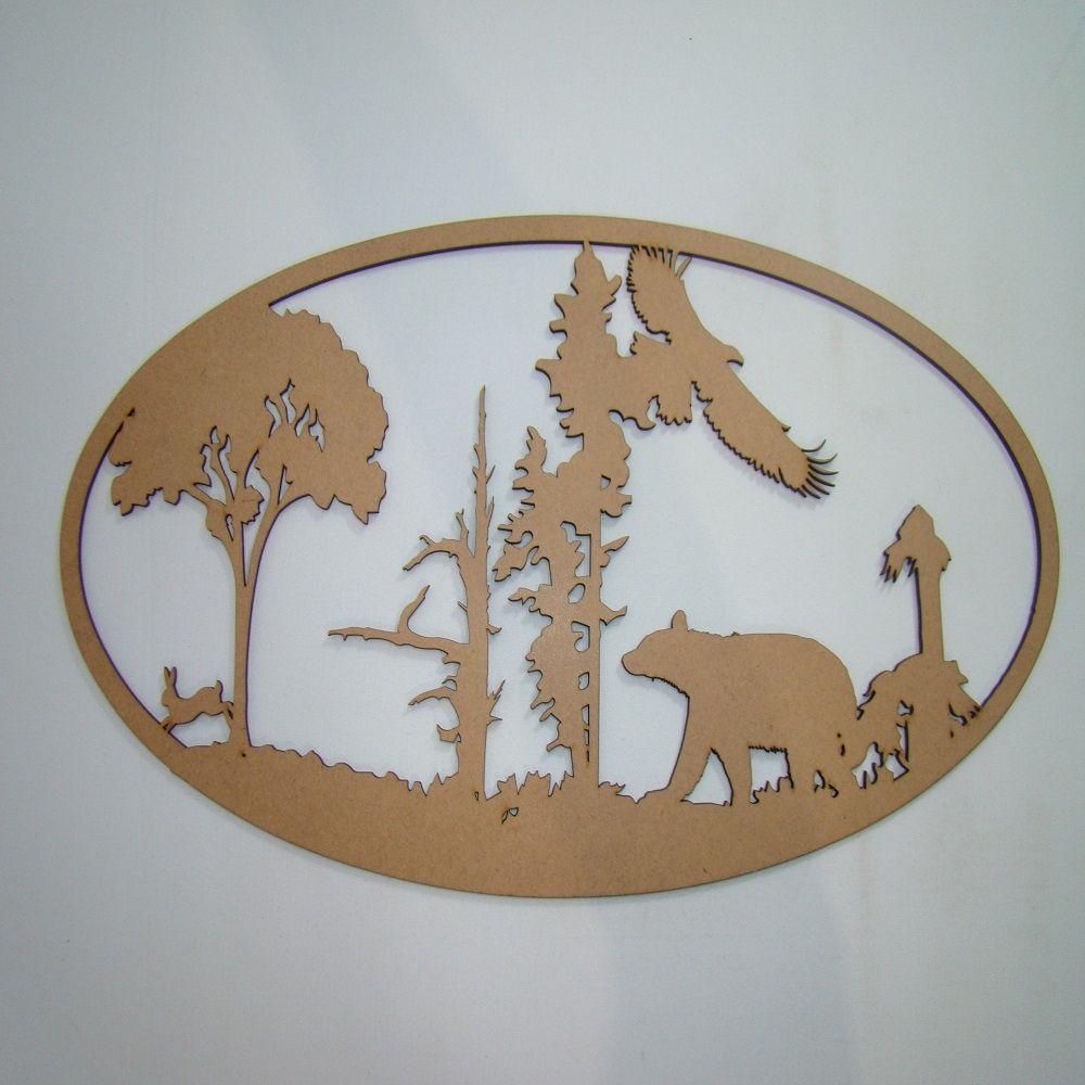 Loja De Artesanato Zona Sul ~ QUADRO NATUREZA VAZADO A086 EM MADEIRA MDF CRU 3MM Objetos em madeira mdf para artesanato