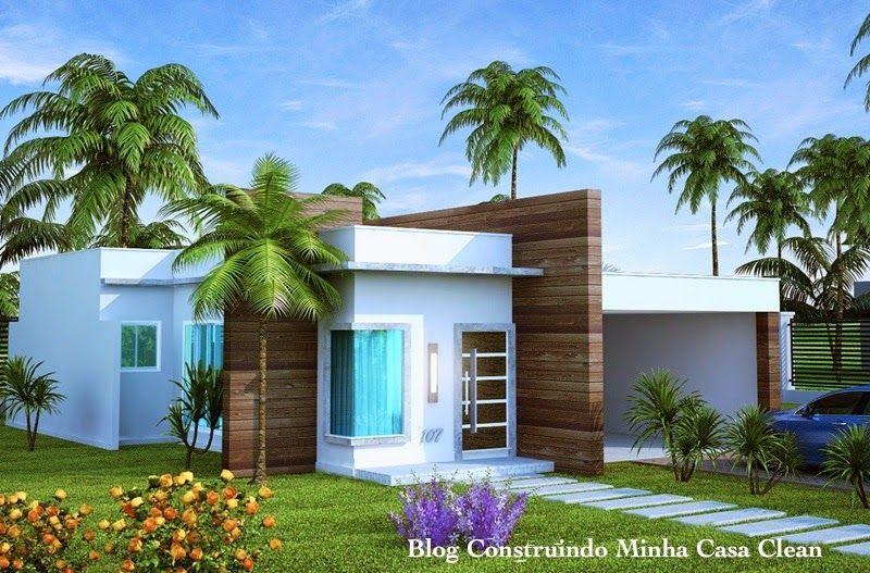 Fachadas de casas t rreas pequenas com garagem for Casas chicas pero bonitas
