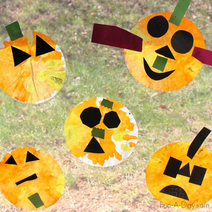 Coffee Filter Jack O Lanterns Halloween Activities Preschool