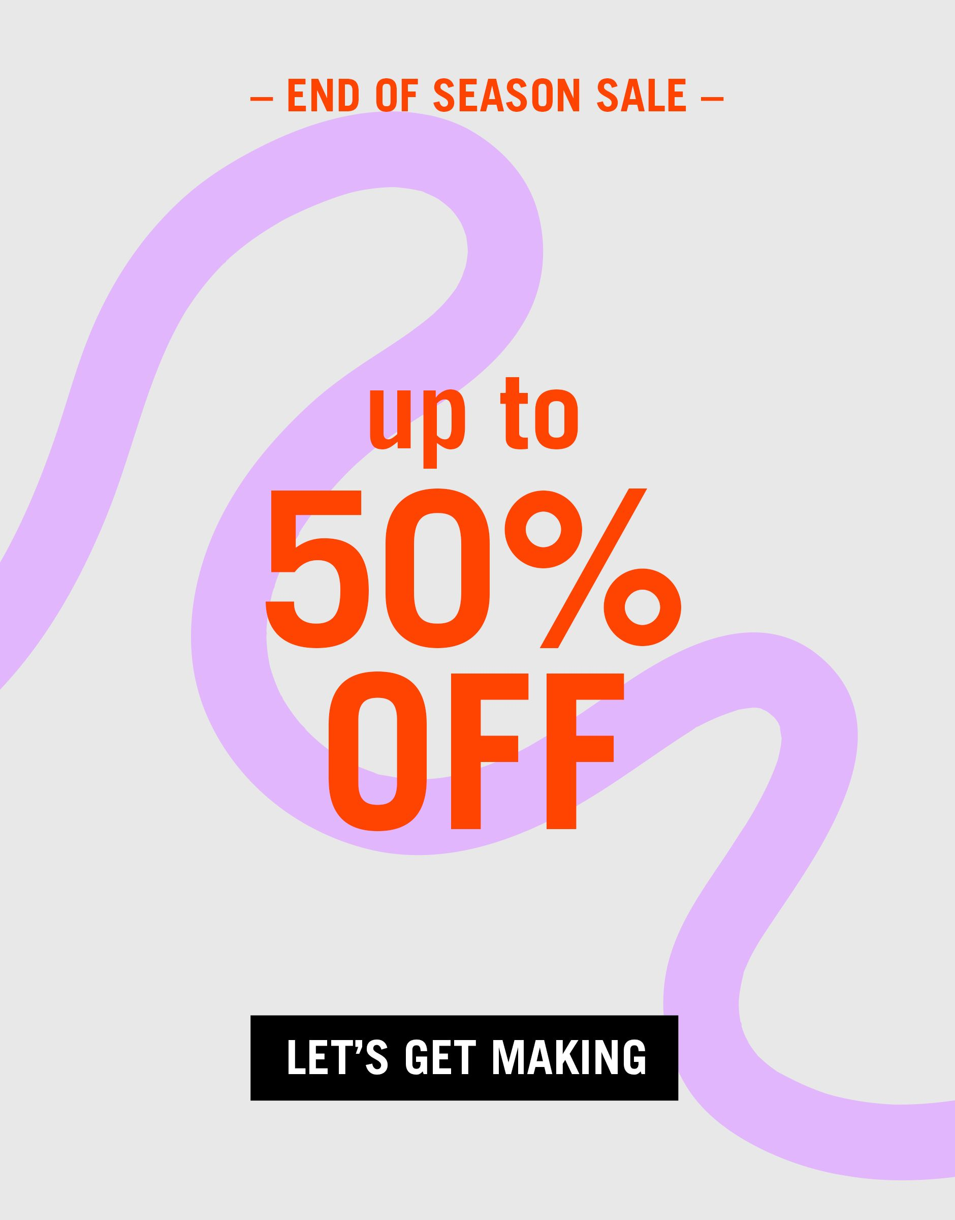 Photo of End of Season Sale – up to 50% off