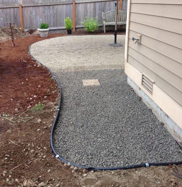 Progress On A Fall Backyard Project: The Pea Gravel Patio