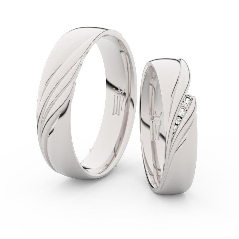 Snubni Prsteny Z Bileho Zlata S Brilianty Par 3044 Elegantni