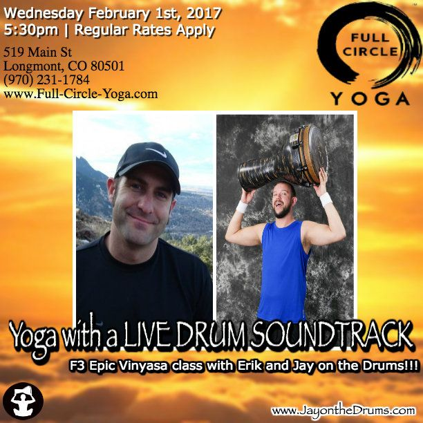 Jay on the Drums Yoga Musician | Fitness Drummer | Live Percussionist