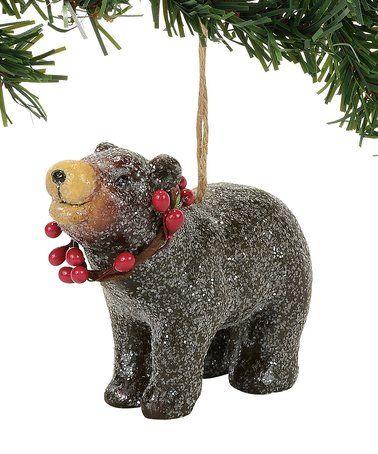 black bear ornament zulilyfinds - Black Bear Christmas Decor