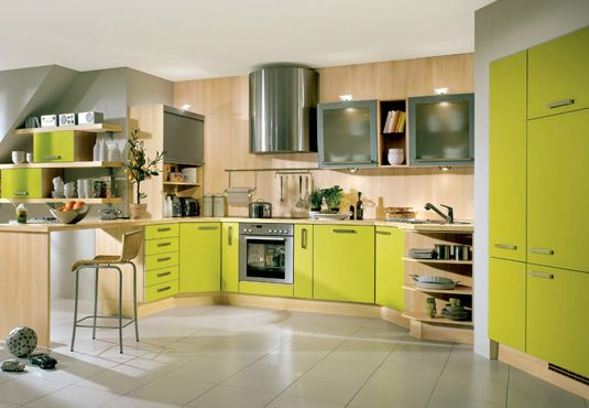 Kitchen Colors Pictures fotos de cozinhas coloridas | lime green kitchen, green kitchen