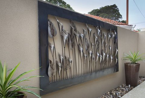 Outside Wall Art Magnificent Large Outdoor Metal Wall Art  Exterior Wall Art  Pinterest Review