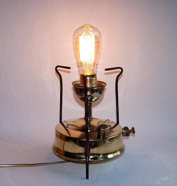 Primus Lamp Steampunk Br Table Handmade Of