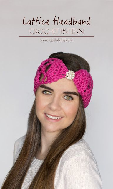 Lacy Lattice Headband Crochet Pattern Free Crochet Crochet And