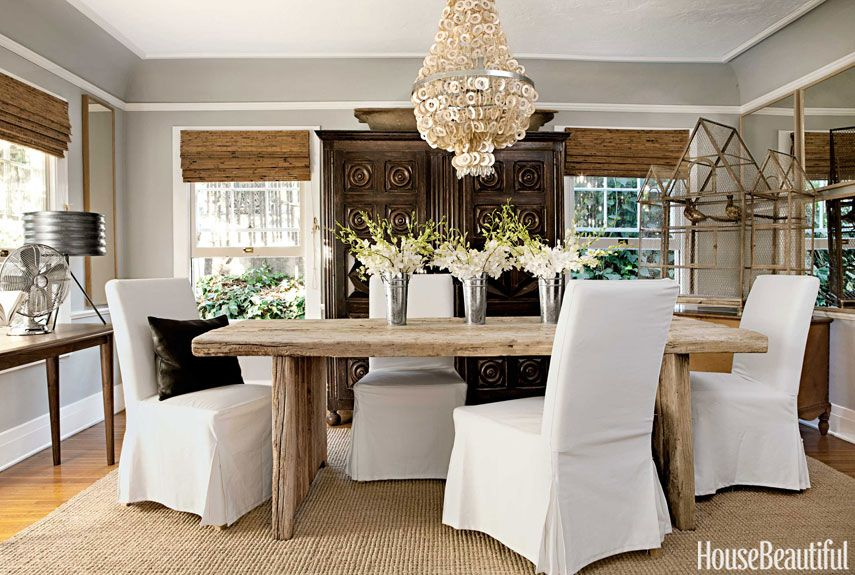 A 100 Year Old Farmhouse Goes Modern Dining Room Inspiration