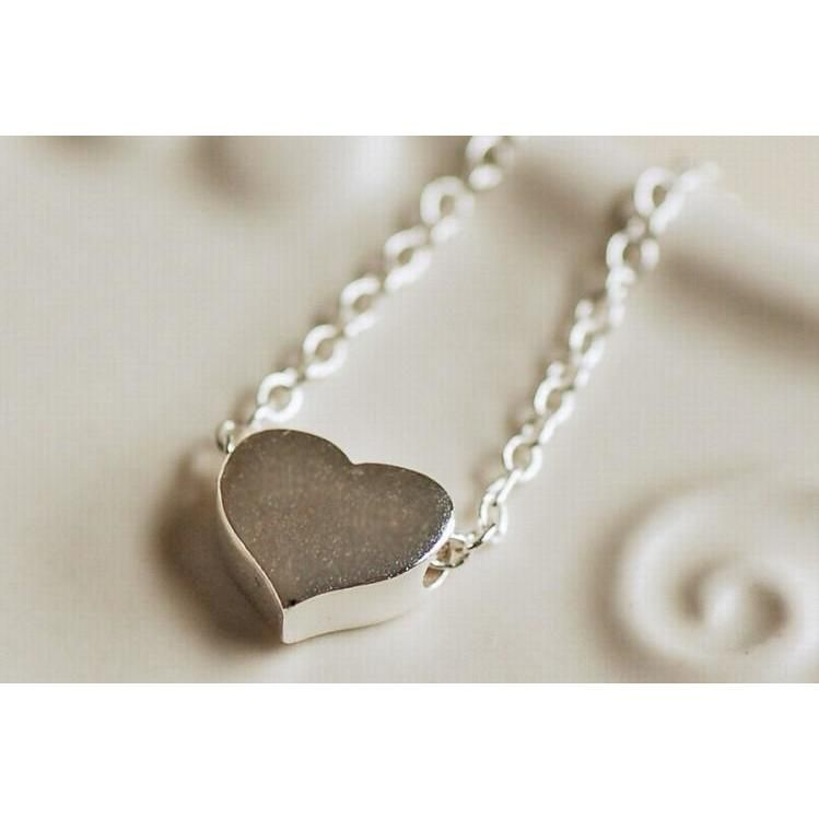 necklace necklaces shop silver flat all heart sterling