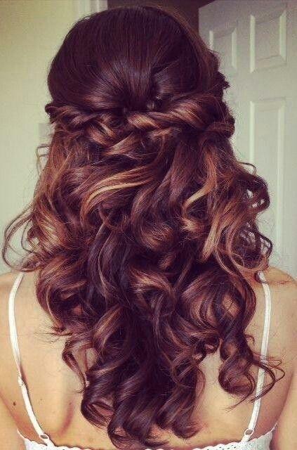 peinados para boda pelo suelto ondulado - Peinados Ondulados