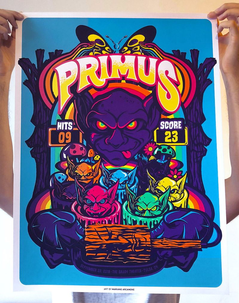 Primus Poster By Mariano Arcamone Poster Screen Print Poster Poster Design