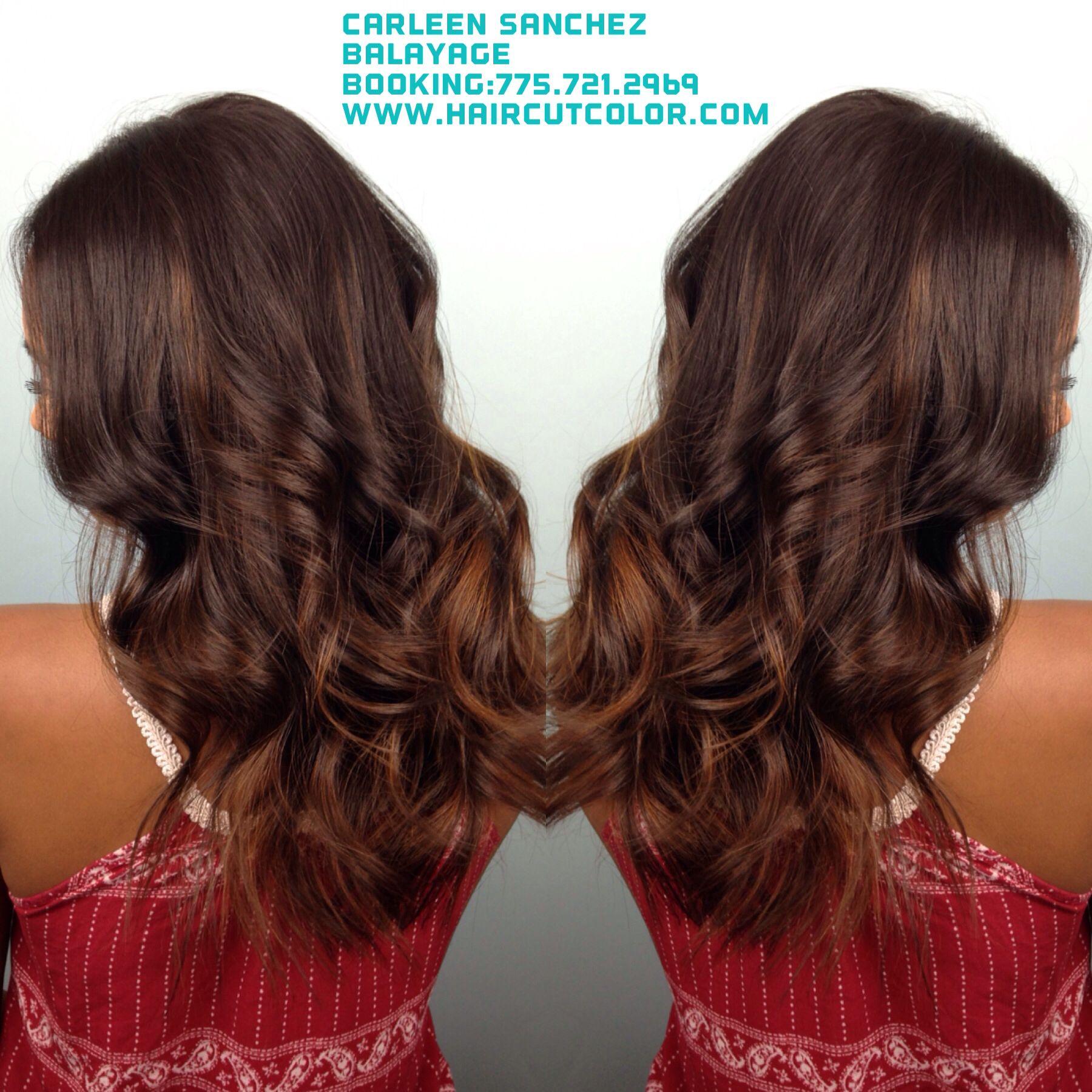 Brunette Balayage by Carleen Sanchez www.haircutcolor.com