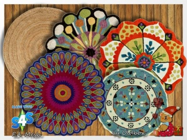 All4Sims: Rugs 6 by Oldbox • Sims 4 Downloads