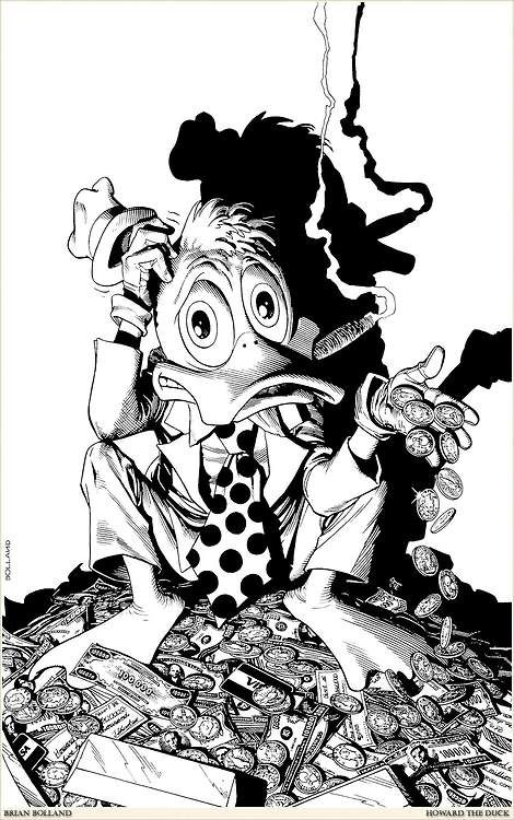 Howard the Duck by Brian Bolland.