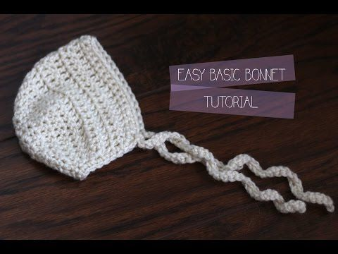 How to - DIY - #Crochet Newborn Baby Bonnet - Easy crochet #TUTORIAL ...