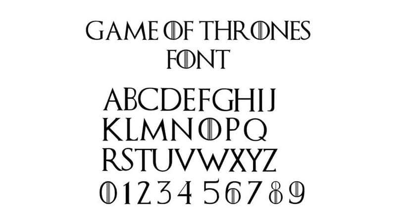 game of thrones free font download