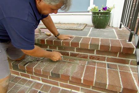 How To Repoint Brick Steps Brick Texture Pinterest