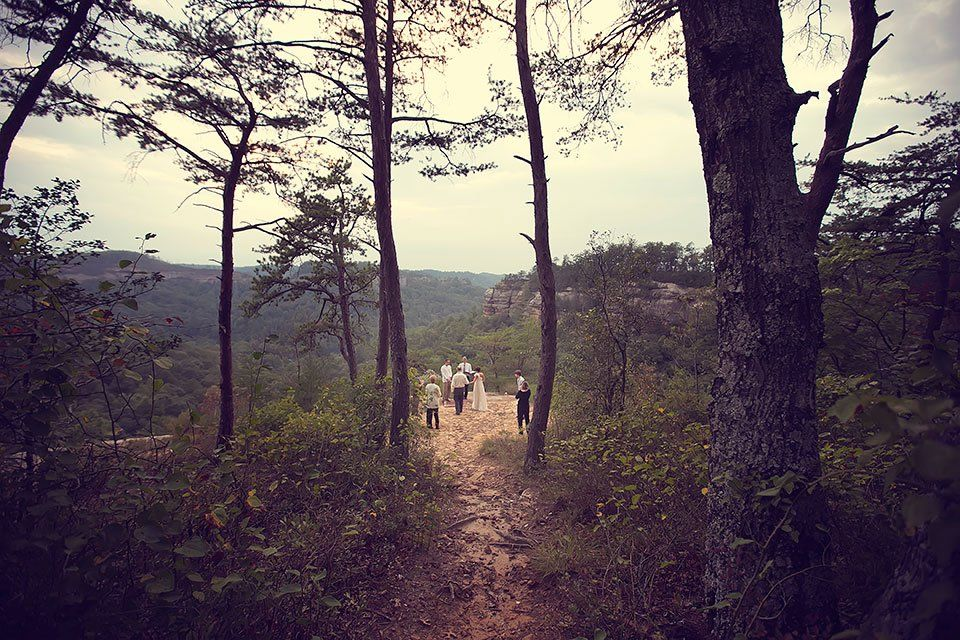 Red River Gorge Lovers Leap Natural Bridge Wedding Red River Gorge Sky Bridge Tiny Wedding