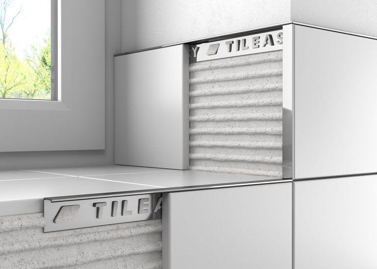 A Contemporary Finish For A Modern Tile Installation Tile Trim Tile Edge Metal Tile