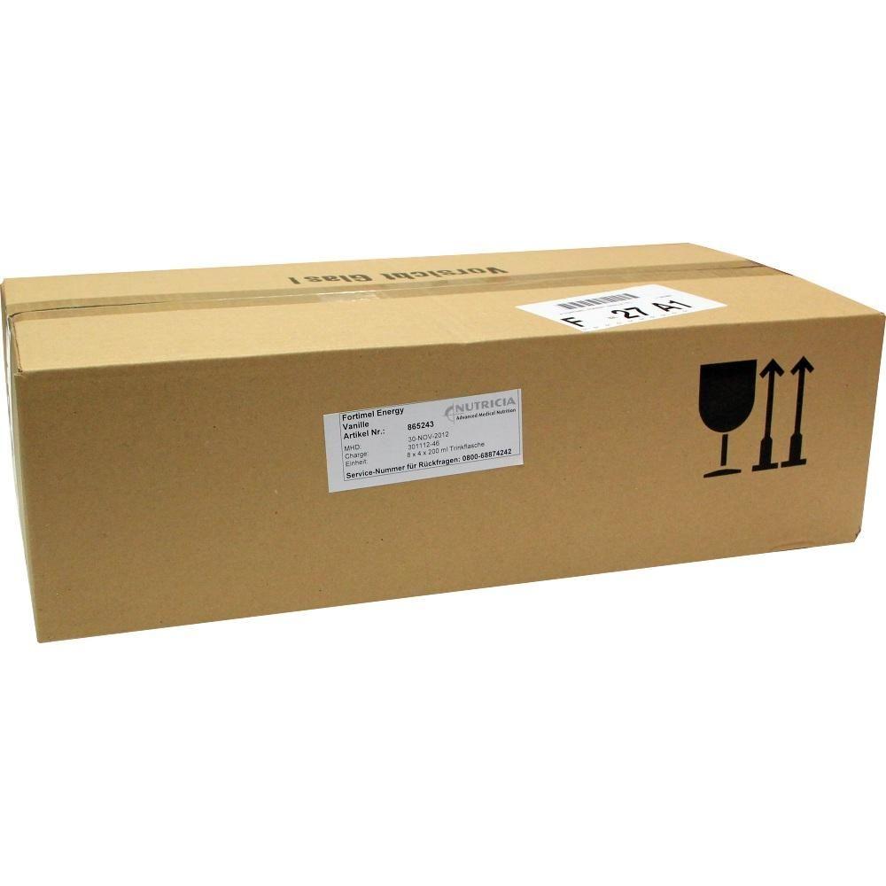 FORTIMEL Energy Vanillegeschmack:   Packungsinhalt: 8X4X200 ml Flüssigkeit PZN: 01125465 Hersteller: MCM KLOSTERFRAU…