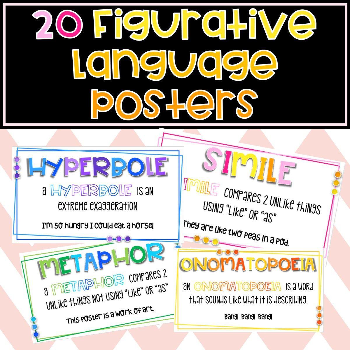 20 Figuartive Language Posters