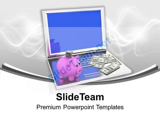 Conceptual image of saving through online banking powerpoint business powerpoint templates toneelgroepblik Gallery